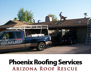 Roofing services in phoenix by Arizona Roof Rescue